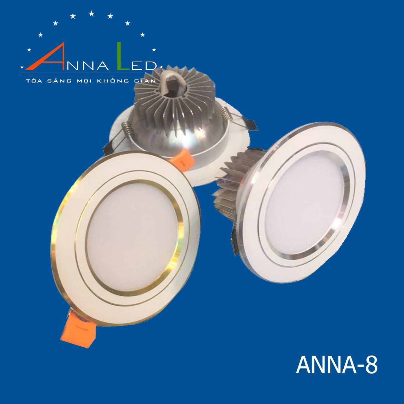 Đèn LED âm trần ANNA8
