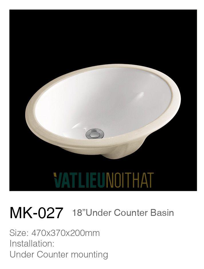 Chậu rửa lavabo âm bàn MK027