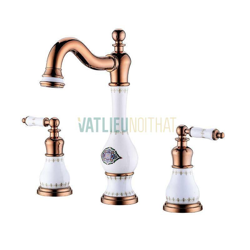Vòi chậu rửa mạ vàng VLNT04
