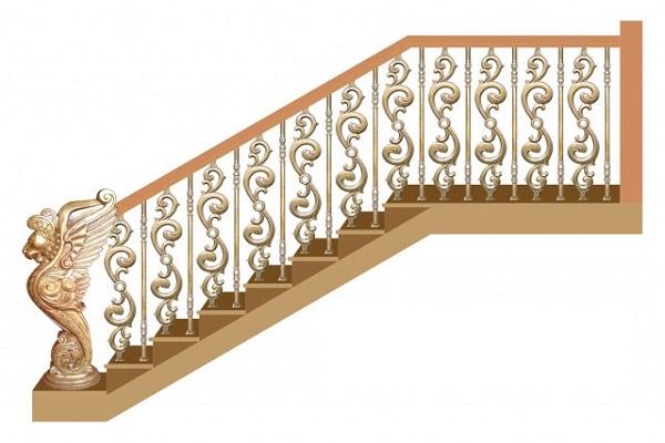 Cầu thang Nhôm đúc chân không CT050