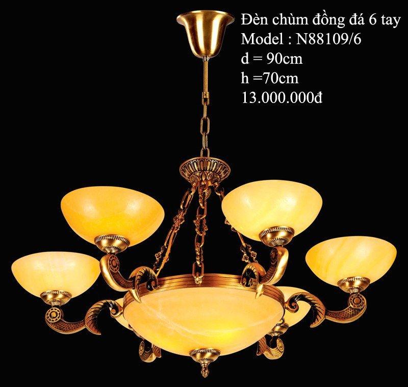 Đèn Chùm Đồng Đá-HT-001